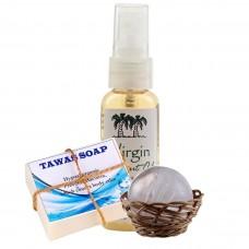 Акция «Tawas Crystal» «Соло» в корзинке и пакете+Мыло кокосовое на квасцах+кокосовое масло.