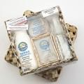Набор дезодорантов «Tawas Crystal» в коробке из пальмы Пандан.  Нет в наличии.