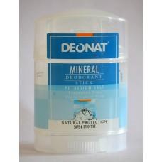 """Минеральный дезодорант """"Деонат"""" стик, чистый, на основе калиевых квасцов, 70 гр, twist-up"""