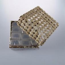 Брусок с глицерином «Супер-мини»  в упаковке из пальмы Пандан