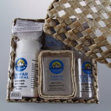 Набор дезодорантов «Tawas Crystal» в коробке из пальмы Пандан.