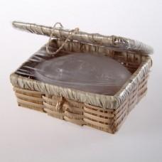 Кристалл в бамбуковой шкатулке средний