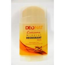 Минеральный дезодорант «Деонат» стик  с экстрактом куркумы, большой